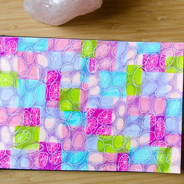 A colorful sketchbook pattern
