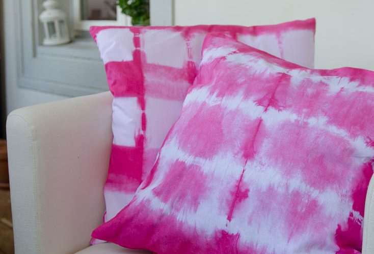 Tie dye session in pink